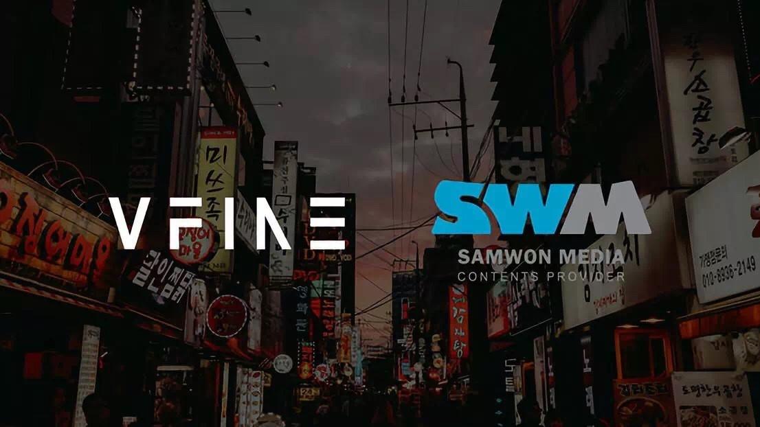 Vfine宣布与韩国SWM合作,双方将就影视剧OST等进行业务拓展