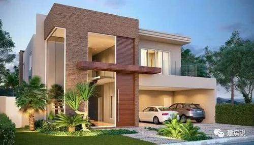 平屋顶现代简约的别墅,不仅因为它鲜明的线条,和简单爽朗的造型