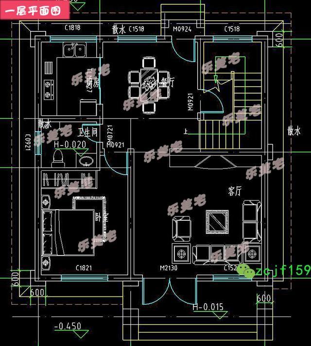 开间8.5米农村三层自建房设计图,小户型推荐