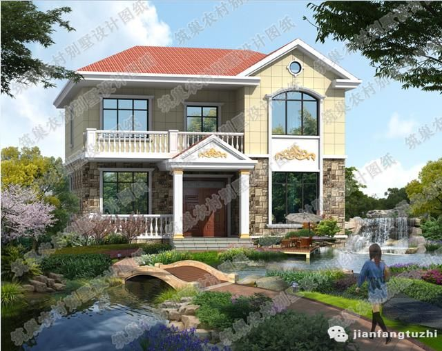 10套新出的农村二层私家独栋别墅设计图(附全套施工图