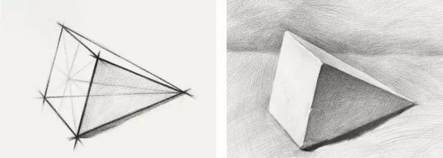 02 画好素描,必须会画几何图形 先来看一组 球体技法步骤图 ▼作品来