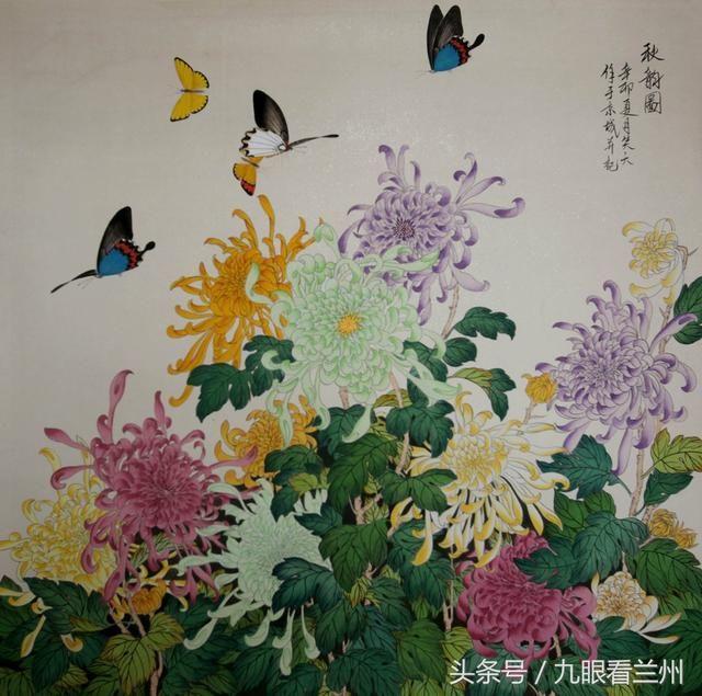 画家李笑天作品欣赏,新派工笔蝴蝶独步画坛,独创朦胧画法