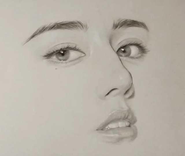 六大女明星的手绘头像,迪丽热巴难找,杨幂最好认!你知道这是谁吗?