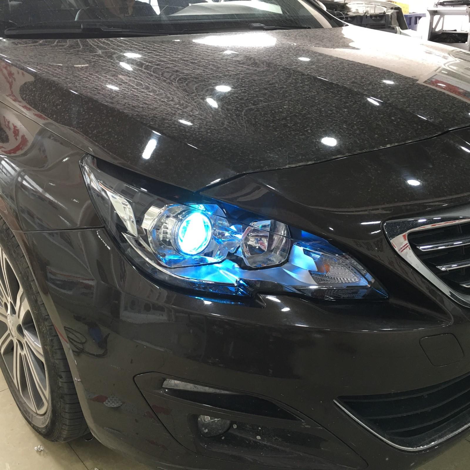 标志408汽车大灯改装双光透镜车灯美观又实用