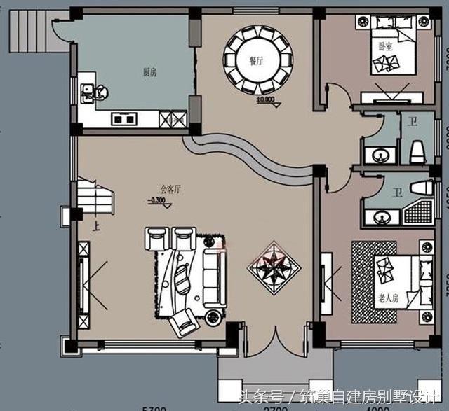 2套进深11米6室三层农村自建新型房屋别墅设计图图片