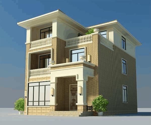 8米小開間三層別墅,高顏值雙效果圖,8室設計,忍不住為