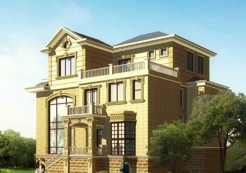 屋顶采用欧式风格的尖顶造型,线条干净利落,立体感十足.