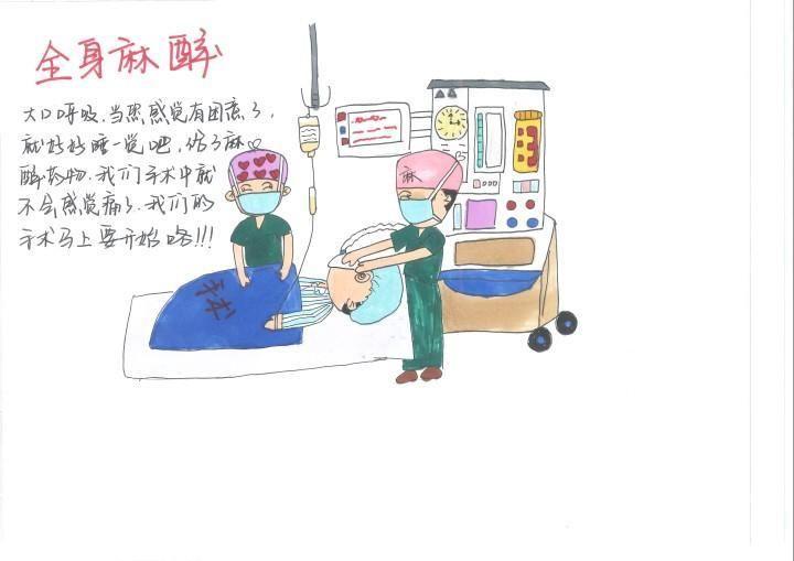 """一本漫画揭秘""""神秘的手术室"""",浦江护士暖心巧解病人""""心慌慌""""图片"""