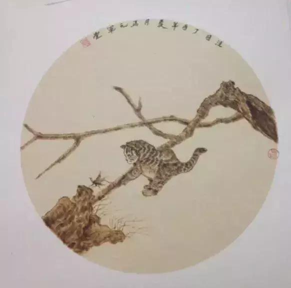 中国艺术绝技宣纸烙画马元军作品欣赏