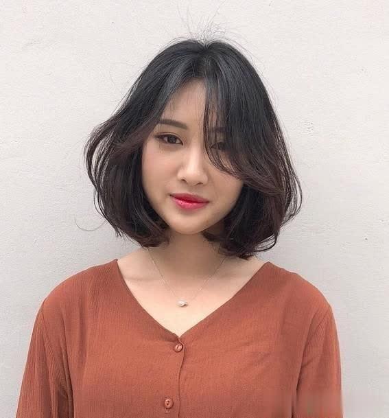 颜值适合的分享发型短发女生齐耳脸型修饰脸小飙升发型的什么短发发型图片