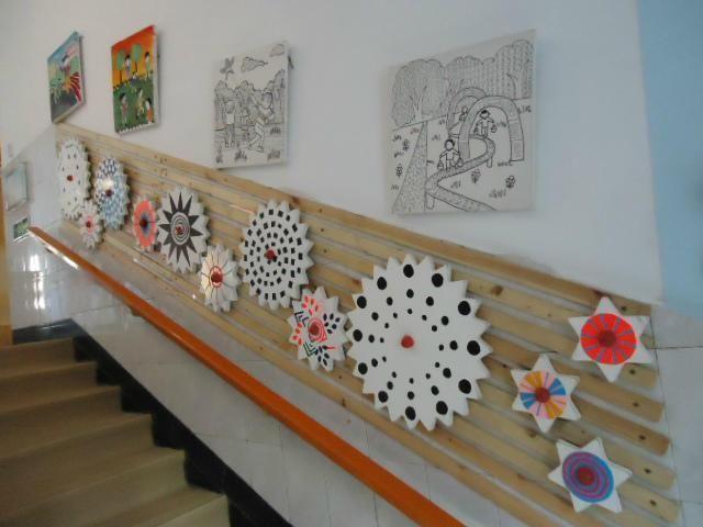环创布置300款幼儿园夏季环创五大区域楼梯+区角+吊饰