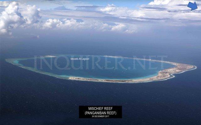 快过年了 菲律宾带来中国南海岛礁建设高清大图