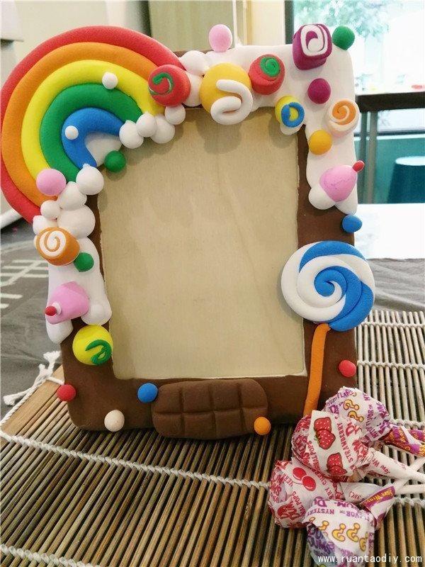 附详细折法 幼儿园废物利用手工视频:冰棍棒制作创意小相框,这样做比