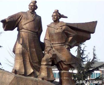 李冰父子雕像 我国古代兴修了许多水利工程,其中颇为著名的还有芍陂