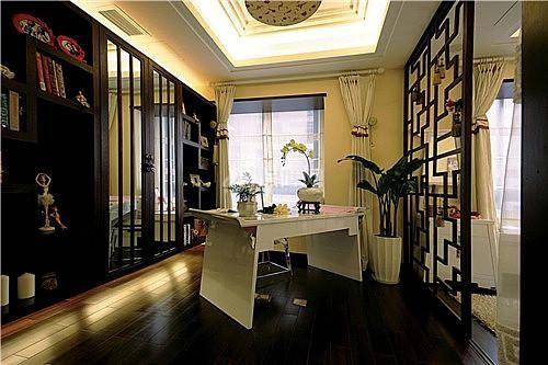 新中式装修效果图 120平米三室两厅装修样板房展示