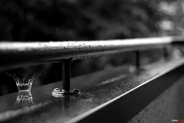 创意二,拍摄雨痕