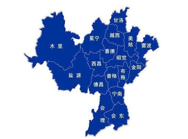 凉山州地图图片
