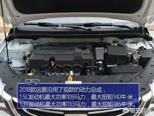 吉利远景搭载1.5l发动机,匹配5mt和4at变速箱.