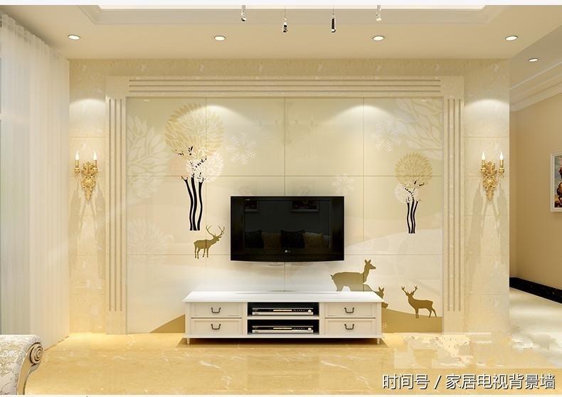 客厅电视背景墙边框边线大理石小方柱造型,背景墙装饰