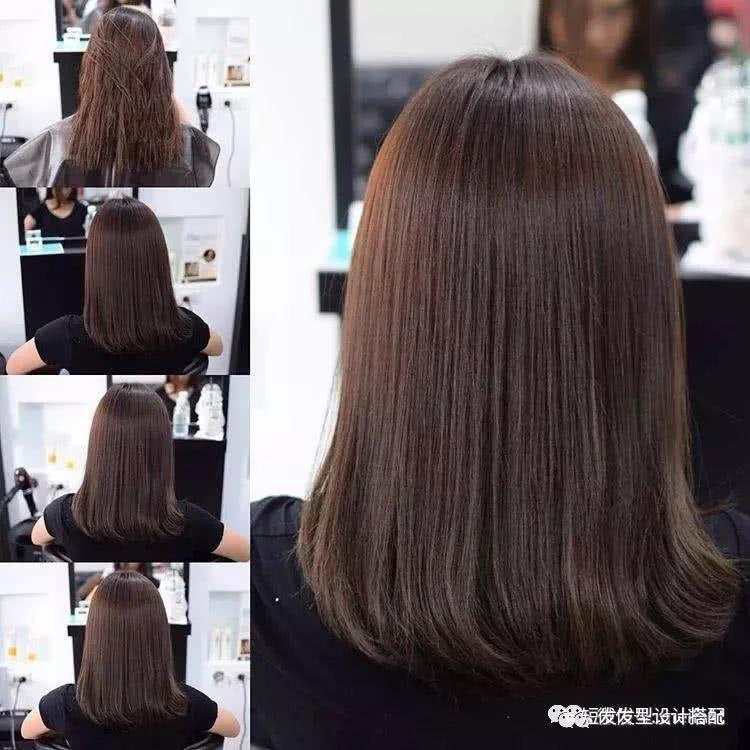 """2018最新款发型""""到肩的头发烫发型图片""""图片"""