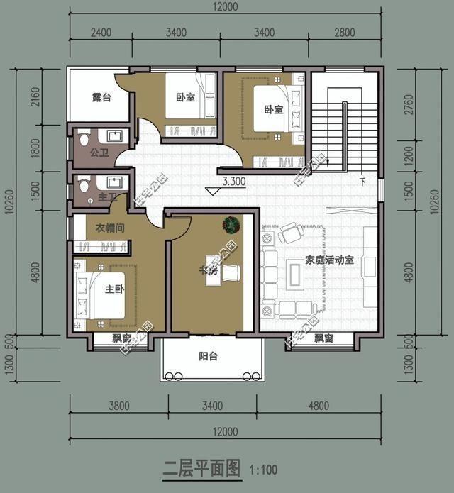 12米x12米建房设计图