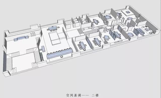 空间分布图和办公室平面图
