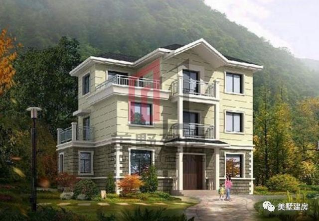 房子效果图,是很久之前就看好的一款款式,简单的农村三层小别墅,在图片