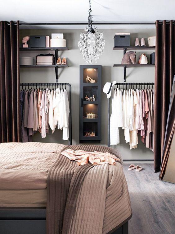 衣柜门用布帘效果图片