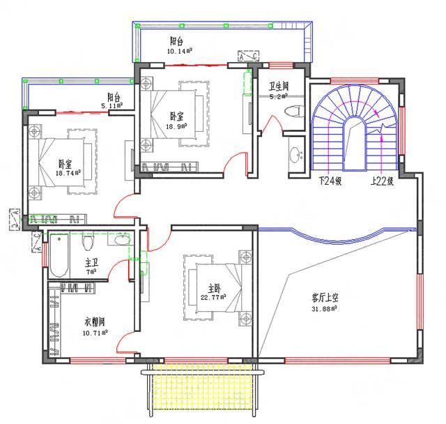 164平方米 总建筑面积:537平方米 结构形式:框架结构 主体造价:55万图片