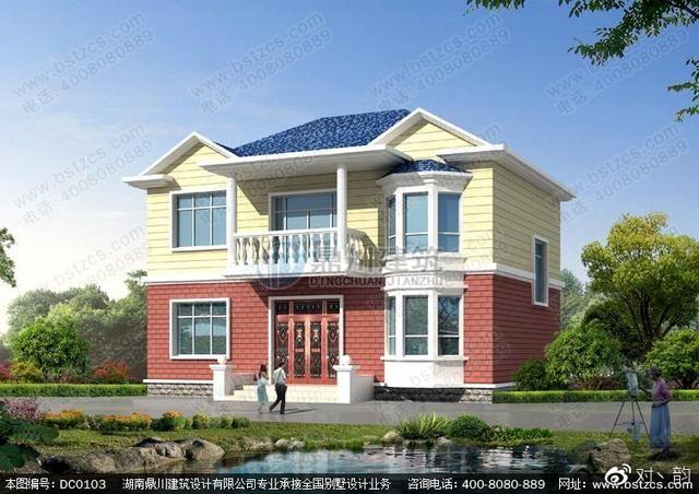 本款图纸为二层农村房屋设计效果图.