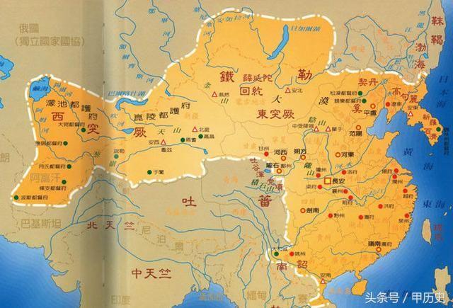 全盛时期的唐朝有开始对东北南部和朝鲜半岛进行羁绊统治,这里需要