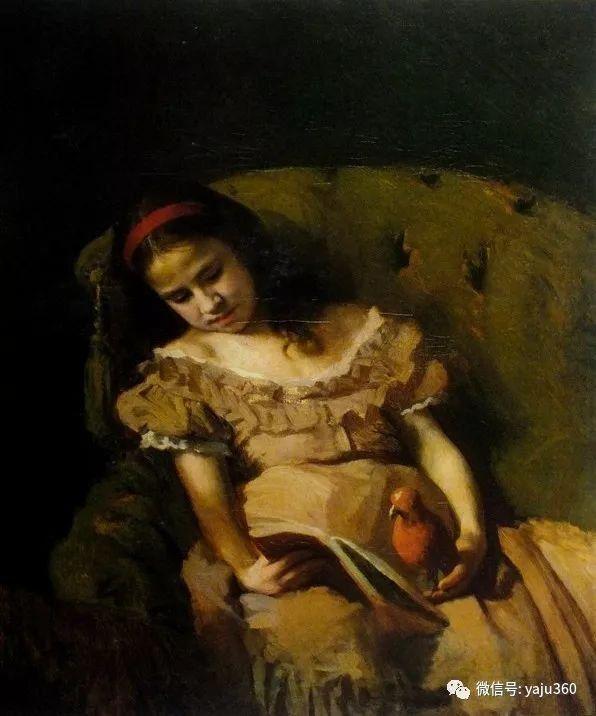 俄罗斯肖像画家克拉姆斯柯依人物油画作品