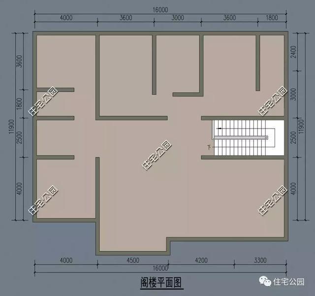 平房设计图四室1厅