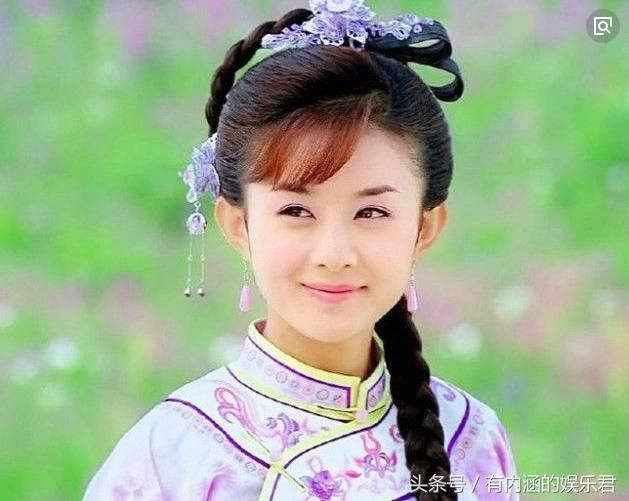 梳麻花辫的古装女星,杨颖热巴可爱,赵丽颖气质十足,而