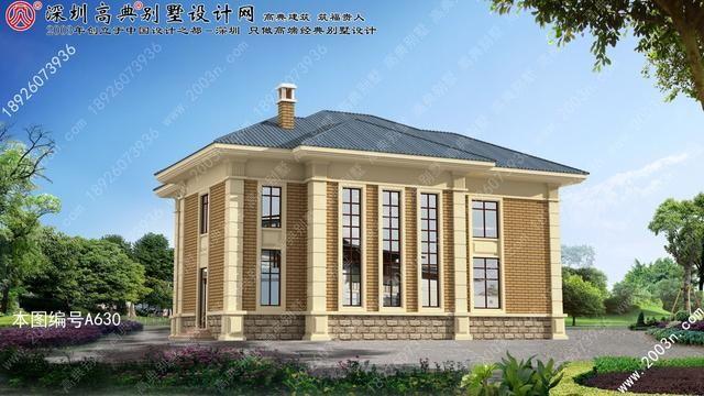 农村二层楼别墅设计图其实很别致-北京时间