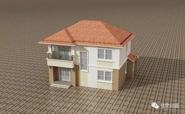 8x11米农村二层别墅,4卧3卫品质实用,15万建成!