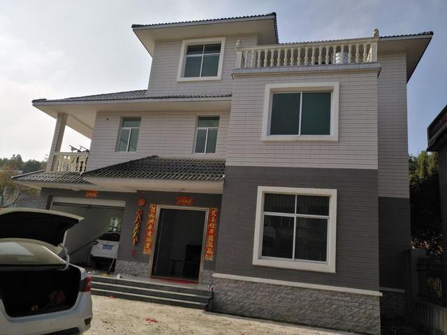 别墅主体自建三层地基小伙1.3W造价农村12万海陵别墅岛左岸图片