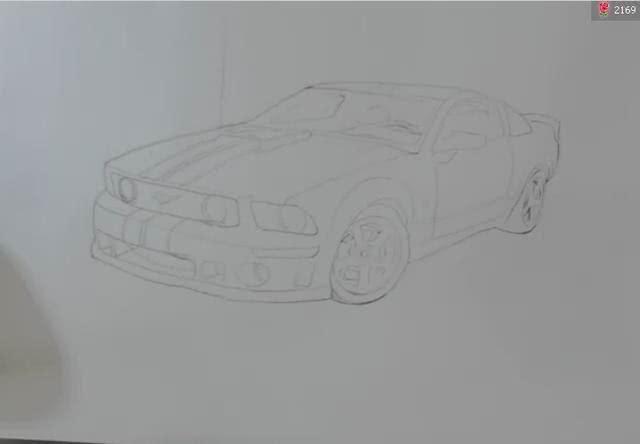 素描静物--汽车的刻画流程图分享