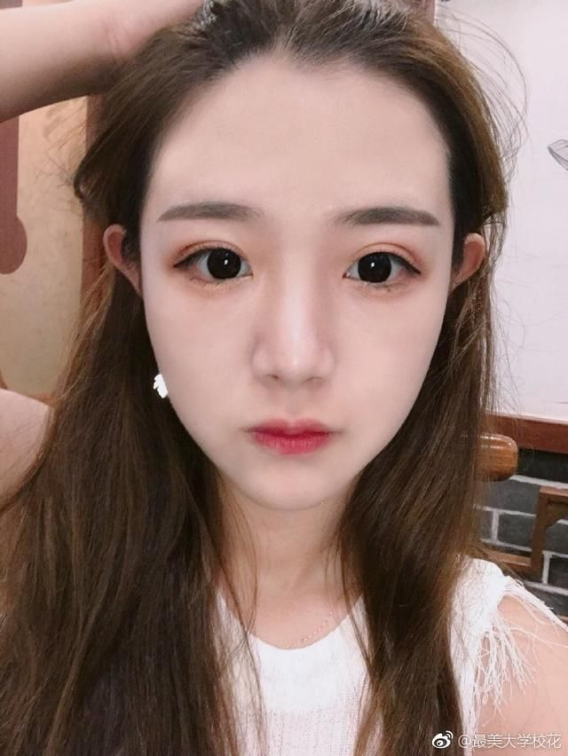 江西女孩师范大学眉眼v女孩科技带笑的内裤痕迹酒窝女生美女图片