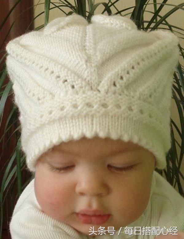 一款时尚婴儿帽的织法,特别适合宝宝戴