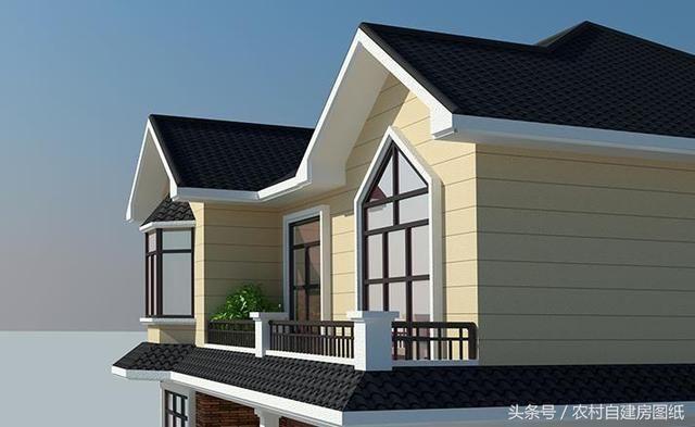 12x11米二层农村小别墅,施工简单,外观很吊,老爸都能建好