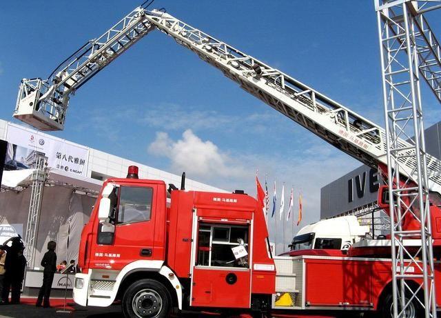 云梯消防车示意图