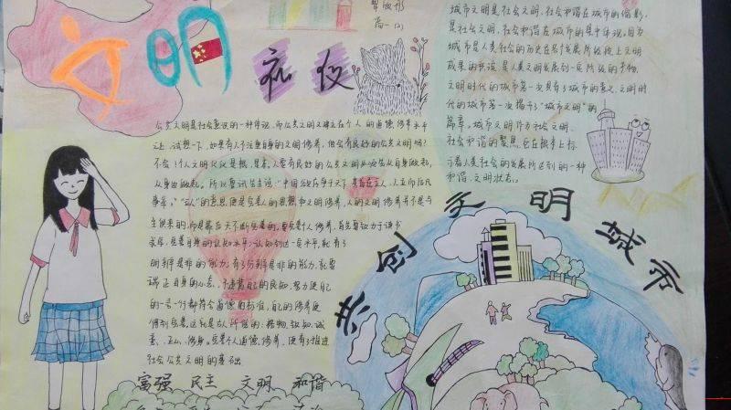 创建文明城市小学生手抄报-北京时间