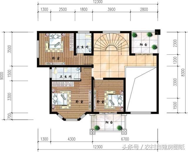 5米*11米进深四层设计图,一楼框架三,四楼最好可以隔出两套房来(可以