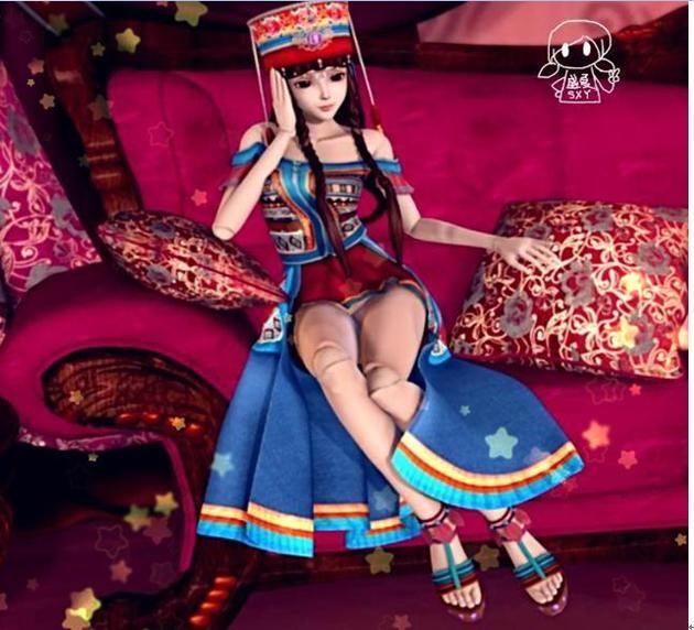 黑香菱的装扮一直是叶罗丽娃娃中最具有民族风情的,像是一只远离尘世图片