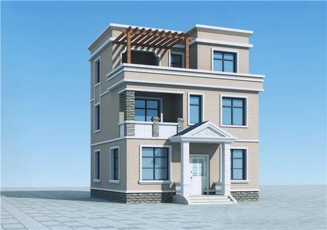 农村小别墅设计图 100楼顶带花园