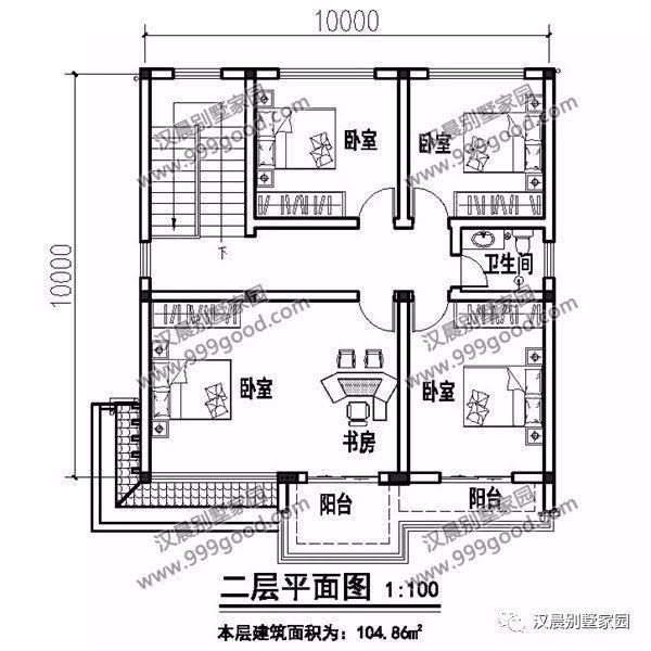 一层别墅设计图:门廊,客厅,1个卧室,厨房,餐厅,卫生间,棋牌室,楼梯间.