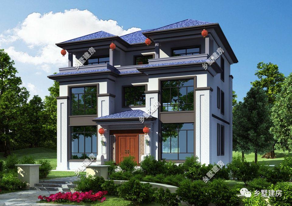 2款新中式农村别墅,一款带堂屋适合住家,一款带商铺适合临街!