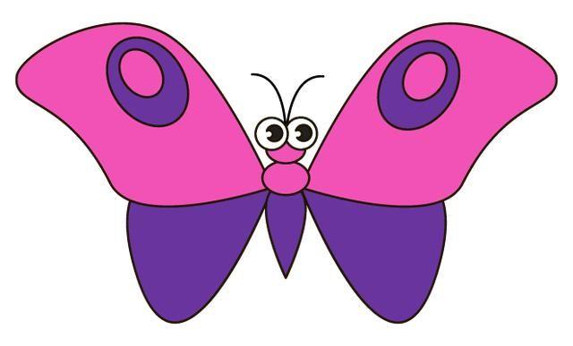 儿童简笔画:卡通蝴蝶绘画教程,春天到了,幼儿园的孩子