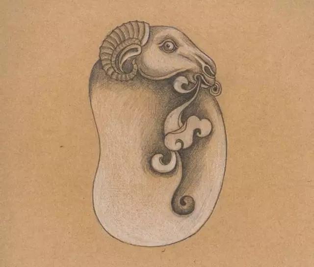 精美的玉雕手稿是怎么设计的图片